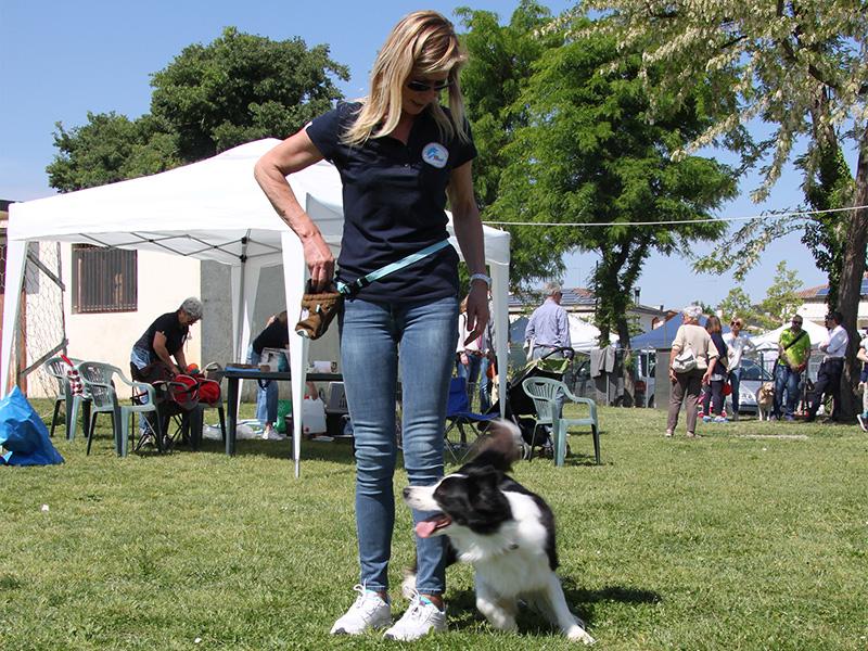 Katia con il suo cane