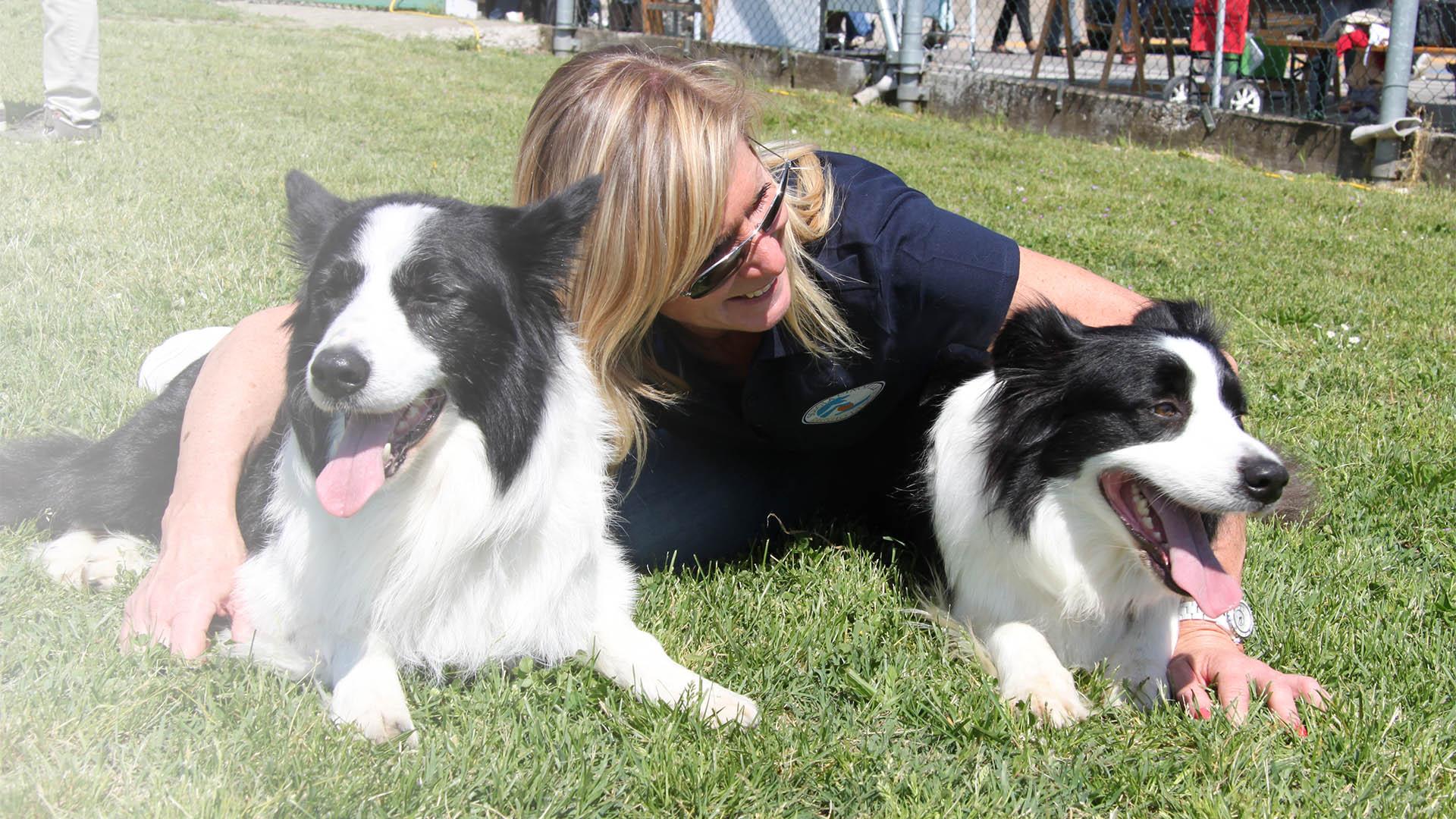 katia con i suoi cani